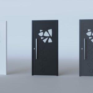 Porte d'entrée vitrée aluminium modèle Nagano