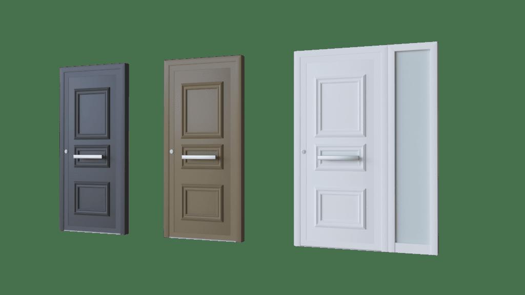 Porte d'entrée aluminium modèle Eindoven pleine