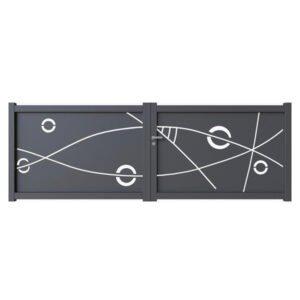 Portail battant aluminium modèle Thalassa